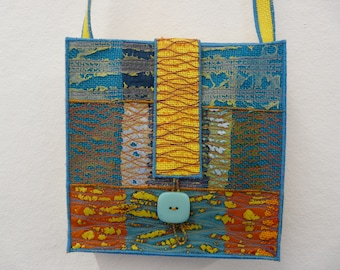 A Shoulder Bag from my latest collection of machine embroidered accessories