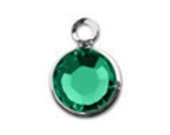 Birthstones Swarovski Crystal Silver Charms add on