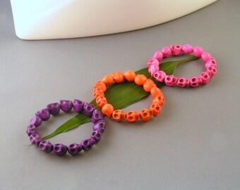Dia de los Muertos - Skulls Stretch Bracelets - Day of the Dead Jewelry