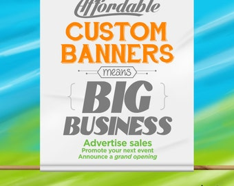 Custom Vinyl Banner For Indoor & Outdoor - Signage for Craft Fairs, Parties, Special Events and more!