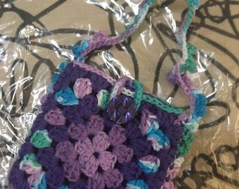 Crocheted Granny Square Purse #139