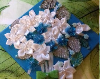 Pretty Turquoise 3d flowers picture