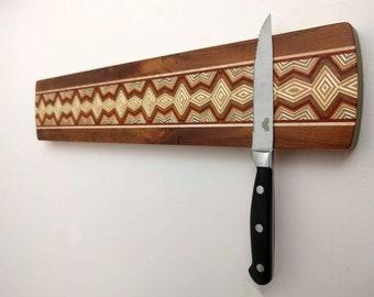 Magnetic Knife Rack, Wooden Knife Organizer, Magnetic Knife Holder, Wall Mounted Knife Holder, Kitchen Accessory, Handmade long#3