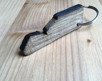 Bourbon barrel keychain