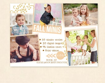 INSTANT DOWNLOAD - Fall Mini Session Marketing board Photoshop template - MA177