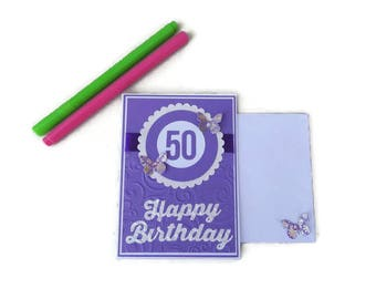 50th birthday, 50th birthday card, 50th birthday gift for women, 50 birthday card, 50 year old cards, 50th cards, For her birthday, Cards
