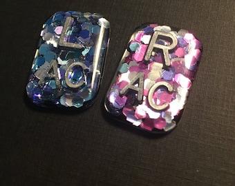 Confetti Glitter Rectangle Xray Markers