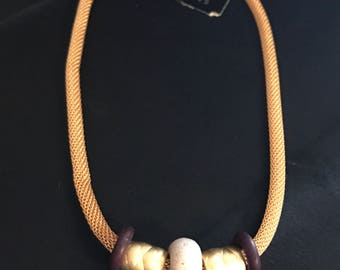 Vintage Robert Rose Gold Tone Mesh Chain Necklace