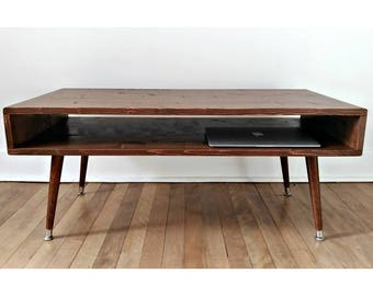 Mid Century Modern Coffee Table, Mid Century Coffee Table, Handbuilt.