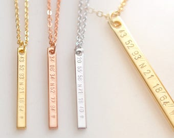 Coordinate Necklace For Girlfriend Gifts For Girlfriend College Graduation Gift - 6N