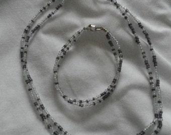 Choker and bracelet set