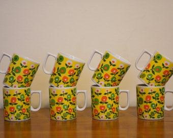 Set of 8 Groovy Mugs