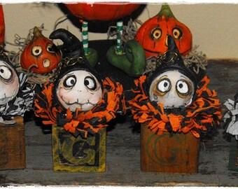 Chef de bloc Grimmy Reaper Halloween plume arbre ornement fait sur commande