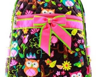 Personalized Backpack Diaper Bag, Owl diaper bag, Easy Carry diaper bag, Diaper Bag, Baby gift, Monogrammed Diaper bag, , Boy, Girl