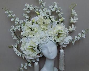 """Kopfschmuck """"White Frühlingsblumen"""""""