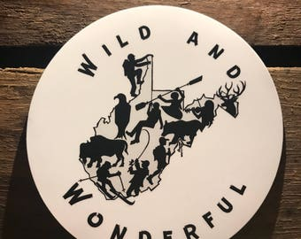 Wild and Wonderful WV Decal