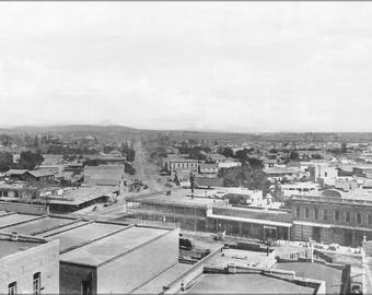 Poster, Many Sizes Available; Los Angeles Street And Aliso Street From Baker Block Looking East, Downtown Los Angeles, 1885 (1859)  #031215