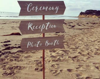 Directional Wedding Signs - Wood