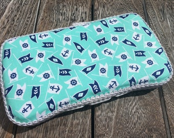 Travel Baby Wipes Case, Small Wipes Case, Nautical Nursery, Nautical Wipe Case