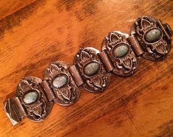 Sale - Antique Artisan Created Old Silver Bracelet