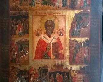Saint Nicholas Icon with life