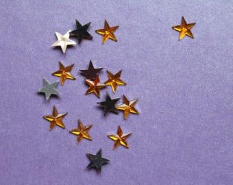 10 glitter orange Star Diamond rhinestones