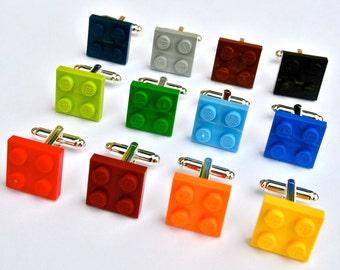 LEGO ® Plate Cufflinks - 15 Funky Colours