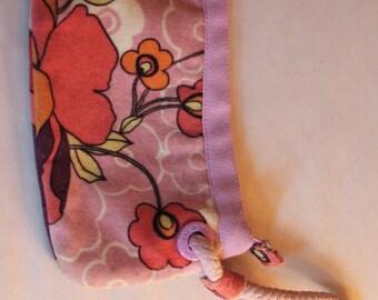 Vintage GAP Velvet Floral Handpurse/Pocketbook/WristWallet