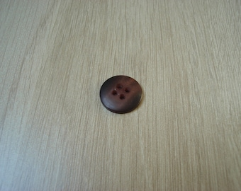 Plum and black round button