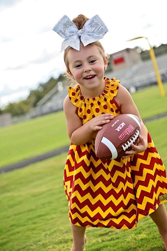 Girls Florida Seminole Dress -  FSU Dress - Southern California Dress - Iowa State Dress - BostonCollege - Central Michigan - Football Dress