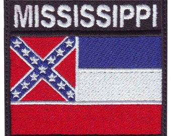 Mississippi Badge Flag Embroidered  Patch