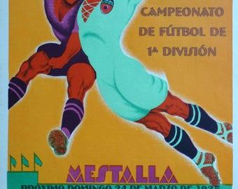 1935 Valencia - Donostia FC Spanish Football/Soccer Match Poster - Original Vintage Poster