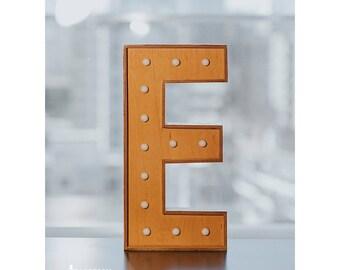 wood art decoration light letter