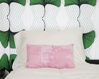 Pink Cochineal Hand Dyed Throw Pillow - Cotton - Screen Printed