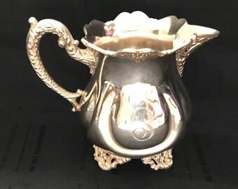 E.G. Webster Quadruple Plate Silver Creamer 1850-1900