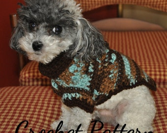 DOG SWEATER Crochet PATTERN, Small Dog Sweater, Crochet Dog Sweater, Dog Clothes Pattern, Crochet Pattern, Instant Download, Digital Pdf