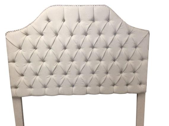 Queen Size Tufted Upholstered Headboard With Rhinestones Queen