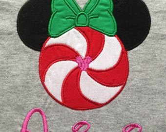 Disney Christmas Peppermint Minnie - Personalized - Adult