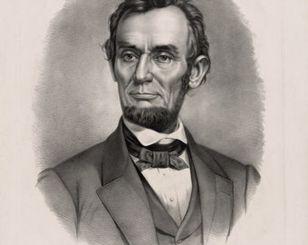 Civil War Print Reproduction.  Abraham Lincoln, The Martyr President, 1865. Fine Art Print