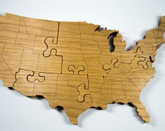Wooden Puzzle United States Engraved Country Puzzle