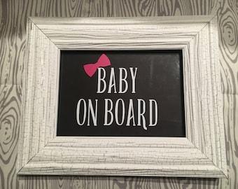 BABY ON BOARD Vinyl Car Decal