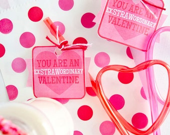 Valentine PRINTABLE 'You Are An ExSTRAWordinary Valentine' by Love the Day