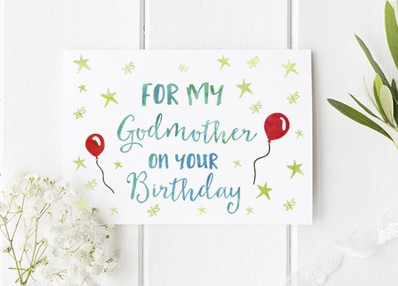 Godmother Birthday Card Perfect Birthday Card For Godmother