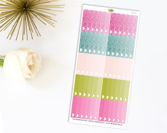 Mini Happy Planner Ombre Check Lists Stickers 783M1