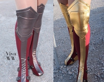 New Wonder Superhero Woman Boot Covers Bootcovers