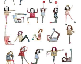 Minimie ABC yoga poster