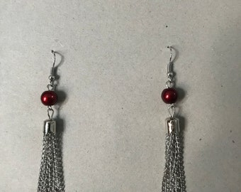 Red and silver dangles