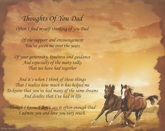 Personalized Poem Thoughts Of You Dad