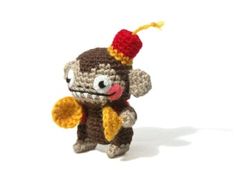 Wind Up Monkey - Amigurumi - crochet pattern