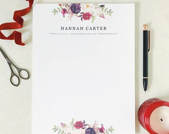 Bohemian Letterhead Design, Letterhead Template, Printable Cover Letter, Blank Cover Letter, Boho, Word or Pages, Instant Download